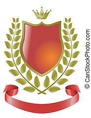 Heraldische Symbole, Vektorschild.