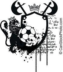 Heraldischer Fußballlöwe Crest9