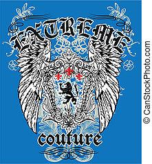 Heraldischer Löwe königliches Emblem.