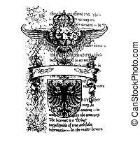 Heraldisches königliches Emblem