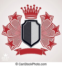Heraldisches Vektorgrafiksymbol