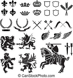 Heraldry Ornament Set