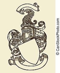 Heraldry-Schild