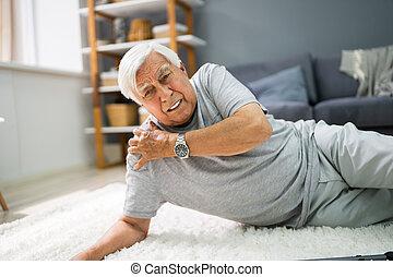 herbst, älterer mann, senioren, unterkleid