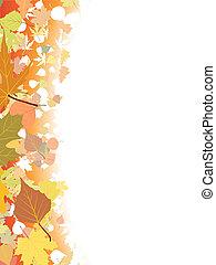 Herbst-Hintergrund-Schrift.