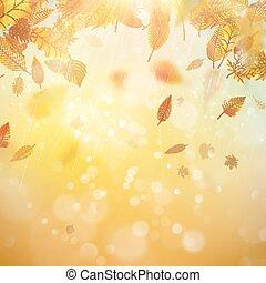 Herbst-Theme Hintergrund. EPS 10 Vektor