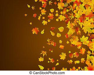 Herbst vergangener Herbst verlässt den Hintergrund. EPS 8