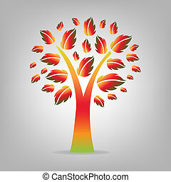 Herbstbaum abbrechen