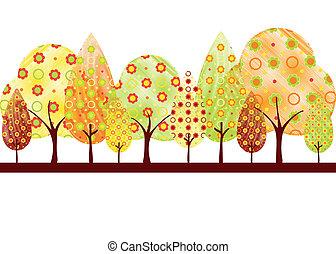 Herbstbaum-Grußkarte absetzen