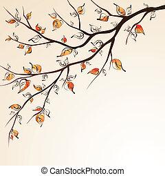 Herbstbaumzweig.