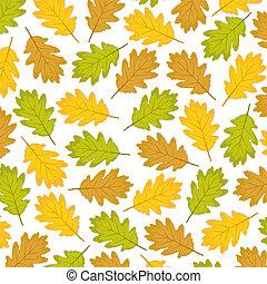Herbstblätter aus Eiche.