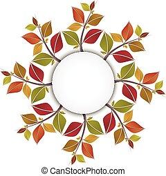 Herbstblätter, Kreis Banner