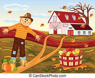 Herbsternte auf der Farm