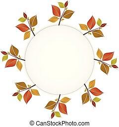Herbstfarbene Blätter Banner oder Rahmen