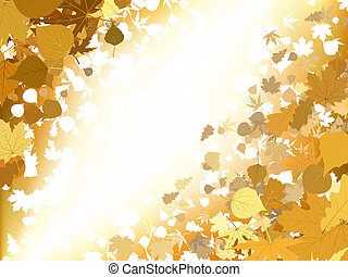 Herbstlicht-Hintergrund. EPS 8