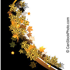 Herbstrahmen: Ahornblatt. Platz für deine SMS.
