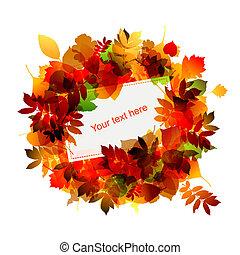 Herbstrahmen mit Platz für deinen Text