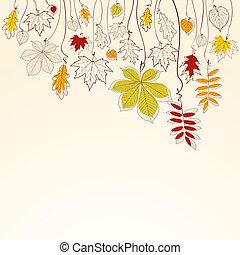 Herbstverfall hinterlässt Hintergrund