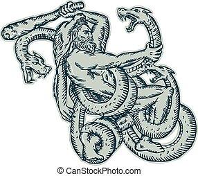 Hercules gegen Hydra Club.