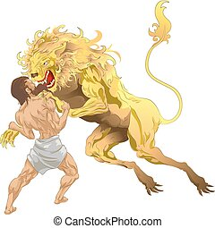Herkules und der Löwe