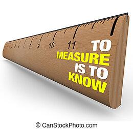 Herrscher über die Bedeutung von Metrien - um es zu messen - sind bekannt
