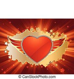 Herz auf den Valentinstag. EPS 8