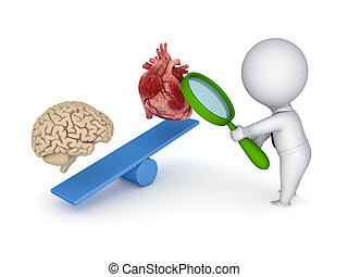 herz, brain., menschliche