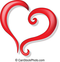 Herz des Liebeslogos
