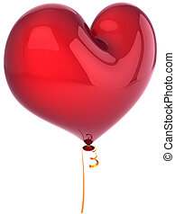 herz- form, balloon, rotes
