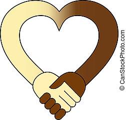 Herz Handschütteln