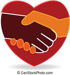 Herz-Handschlag-Logo.