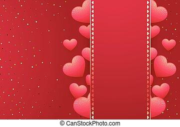 Herz Hintergrund mit Platz für Ihren Text.