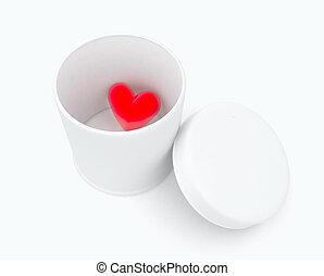 Herz in einer Kiste