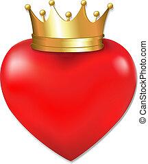 Herz in Krone.