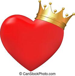 Herz in Krone