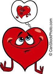 Herz in Liebes-Cartoon-Darstellung.