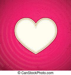 Herz in Liebeshintergrund
