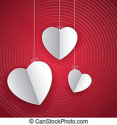 Herz in Liebeshintergrund hängen
