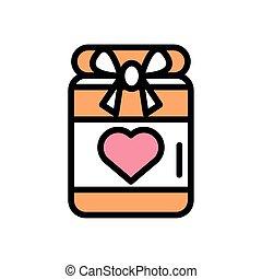 herz, kasten, liebe, geschenk, geschenk
