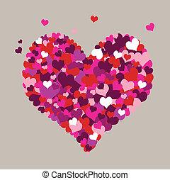 Herz mit grauem Hintergrund