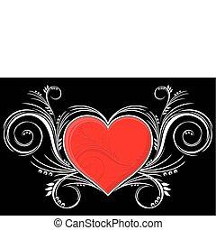 Herz mit Schmuck