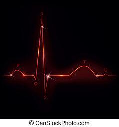herz, normal, kardiogramm