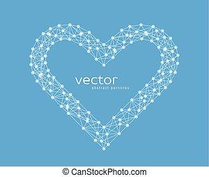 herz, rahmen, vektor, abbildung