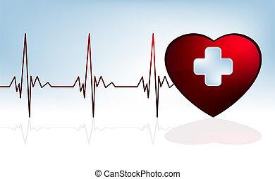 Herz schlägt Hintergrund. EPS 8