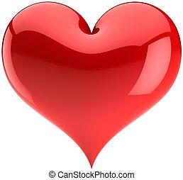 herz, symbol, liebe, rotes