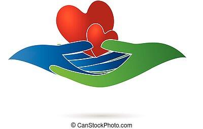 Herz und Hände Logo.