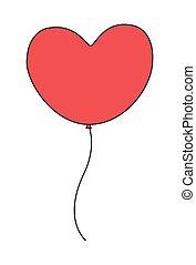 Herzballon.