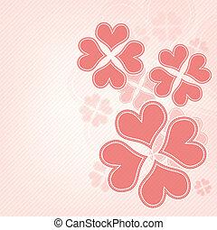 Herzblumen Hintergrund