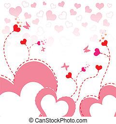 Herzblumen-Hintergrunddesign