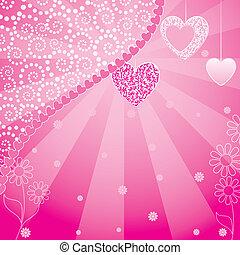 Herzen mit Blumenmuster
